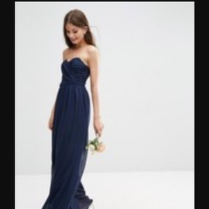 ASOS Navy Bridesmaid Navy Sweetheart Gown Dress