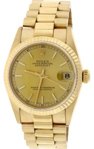 Rolex Rolex President Datejust Midsize Gold Champagne Dial 31mm 68278