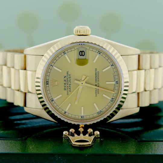 Rolex Rolex President Datejust Midsize Gold Champagne Dial 31mm 68278 Image 1
