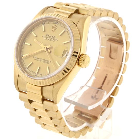 Rolex Rolex President Datejust Midsize Gold Champagne Dial 31mm 68278 Image 3