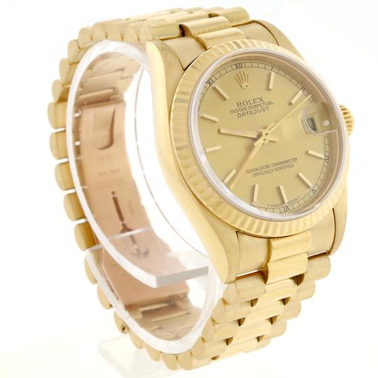 Rolex Rolex President Datejust Midsize Gold Champagne Dial 31mm 68278 Image 4