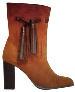 Mango Tory Burch Brown Fringes Camel Boots
