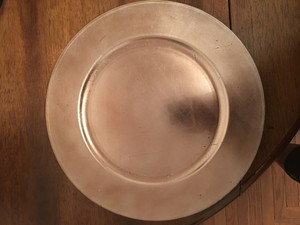 Ashland Light Gold / Champagne 30 Never Used Charger Plates Tableware