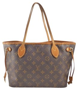 Louis Vuitton Canvas Leather Neverfull Shoulder Bag