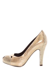 Fendi Gold Pumps