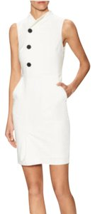 Pure Navy short dress Ivory with black buttons on Tradesy