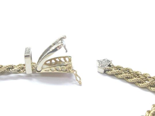 Other Fine Rope Buckle Diamond Yellow Gold Bracelet 7.5