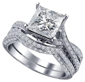 Other New Size 4 2pc Wedding Ring Set