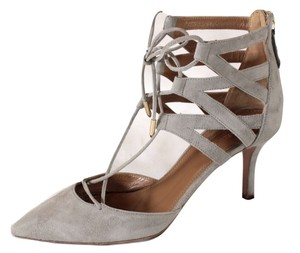 Aquazzura Belgravia Suede Lace gray Pumps