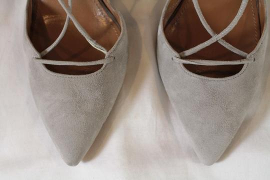 Aquazzura Belgravia Suede Lace gray Pumps Image 5