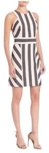 MILLY short dress Navy and Cream Maya Stripe on Tradesy