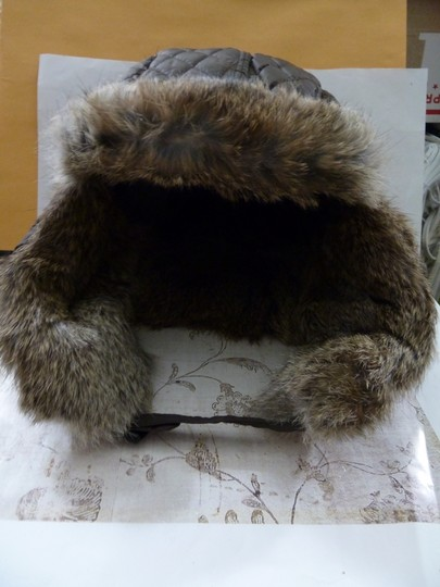 Surell SURELL Hat with Real Rabbit Fur NEW Image 1