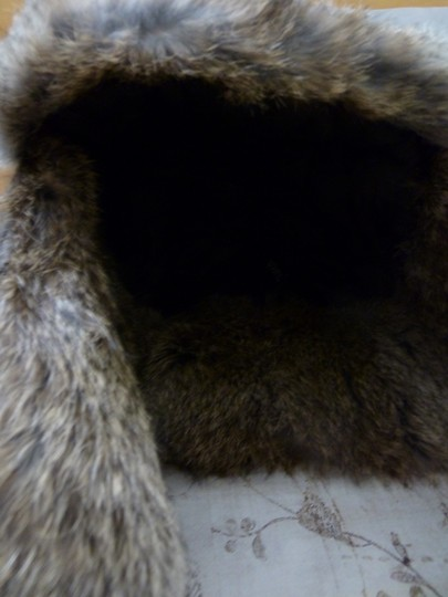 Surell SURELL Hat with Real Rabbit Fur NEW Image 4