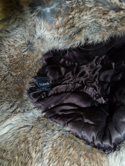 Surell SURELL Hat with Real Rabbit Fur NEW Image 5