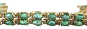 Other Fine 14Kt Gem Emerald Diamond Bracelet & Earrings 15.50CT