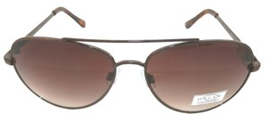 Oscar de la Renta NEW Oscar Del La Renta Gold Metal Aviator Brown Lens 3041 210