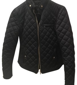 Zara Quilted Fall Spring High Street blue Jacket