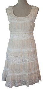 Chelsea & Violet short dress Pink, White and Silver on Tradesy