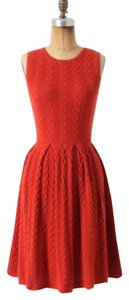 Anthropologie short dress red orange on Tradesy