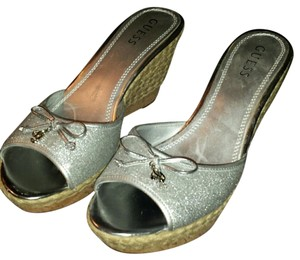 Guess Silver metallic Wedges