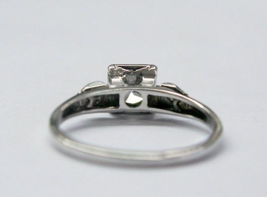 Other 18Kt Vintage Round Diamond Engagement Jewelry Ring WG .59CT F-VVS1 Image 1