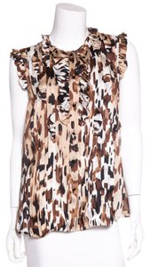Escada Top Animal Print