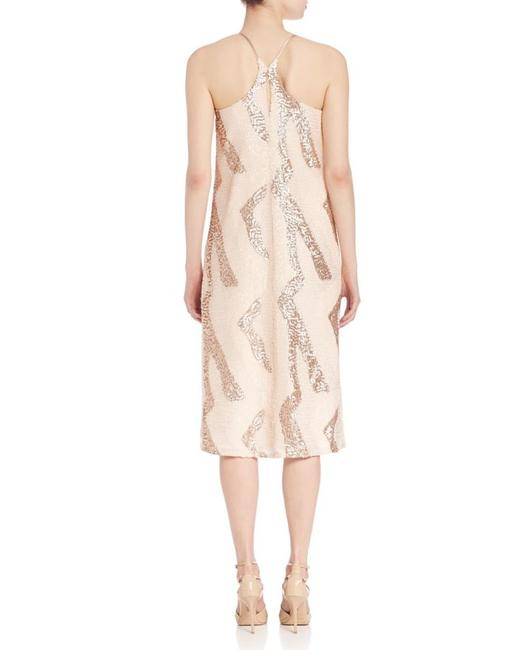 A.B.S. by Allen Schwartz Sequin Beaded Sleeveless Midi Dress Image 1