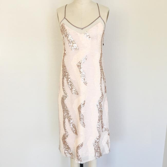 A.B.S. by Allen Schwartz Sequin Beaded Sleeveless Midi Dress Image 2