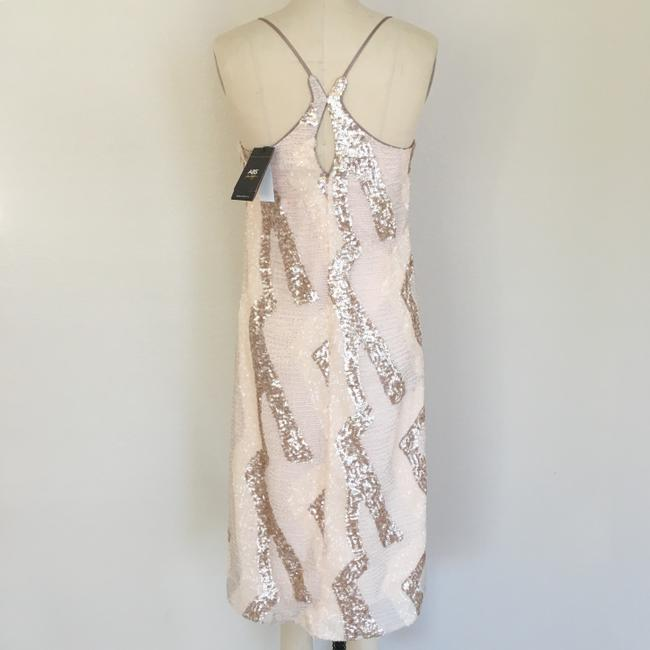 A.B.S. by Allen Schwartz Sequin Beaded Sleeveless Midi Dress Image 4