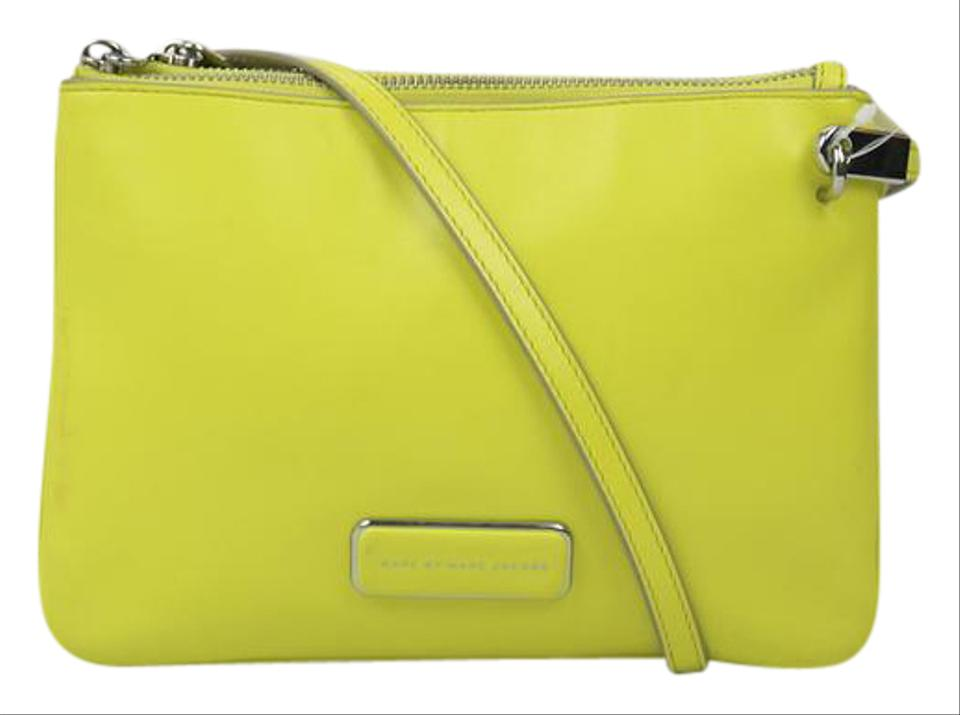 3e0fb4c65dda Marc by Marc Jacobs Bright Silver Hardware Leather Cross Body Bag ...
