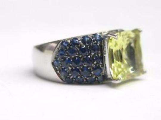 Other Fine Green Tourmaline Gem Sapphire Jewelry Ring 7.56CT Image 3