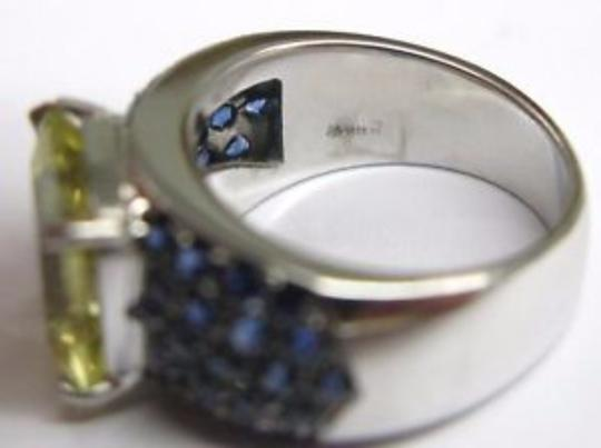 Other Fine Green Tourmaline Gem Sapphire Jewelry Ring 7.56CT Image 4