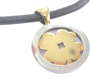 BVLGARI BVLGARI BULGARI Tondo Clover Pendant Necklace 18k Yellow Gold