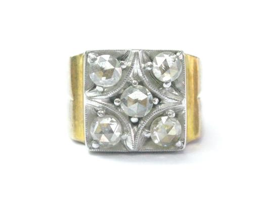 Preload https://img-static.tradesy.com/item/21079499/h-i-fine-vintage-rose-cut-diamond-yellow-gold-5-stone-100ct-ring-0-0-540-540.jpg