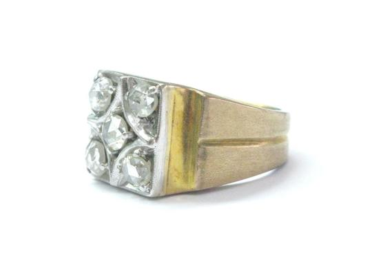 Other Fine Vintage Rose Cut Diamond Yellow Gold 5-Stone Ring 1.00Ct Image 1