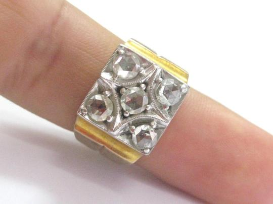 Other Fine Vintage Rose Cut Diamond Yellow Gold 5-Stone Ring 1.00Ct Image 4