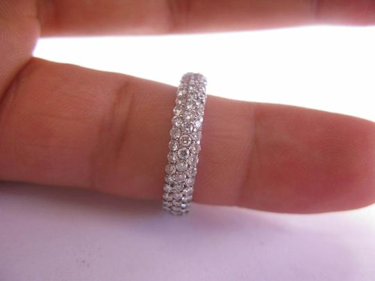 Other 18Kt 3-Row Diamond Anniversary Band Ring 2.00Ct Image 2