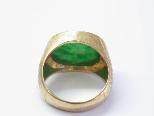 Other Fine Carved Jade Yellow Gold Jewelry Ring 14Kt 12mm x 17mm Image 2