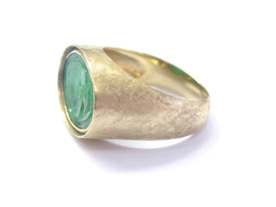 Other Fine Carved Jade Yellow Gold Jewelry Ring 14Kt 12mm x 17mm Image 3