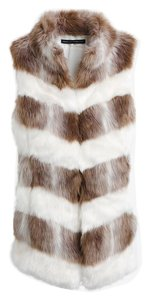 White House | Black Market Faux Fur Vest