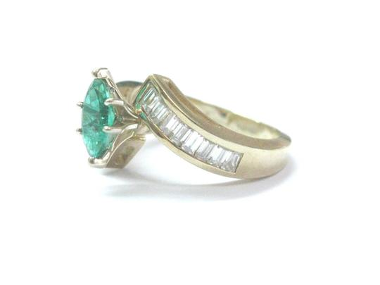 Other Fine Gem Green Emerald Diamond ByPass Yellow Gold Jewelry Ring 2.02Ct Image 1