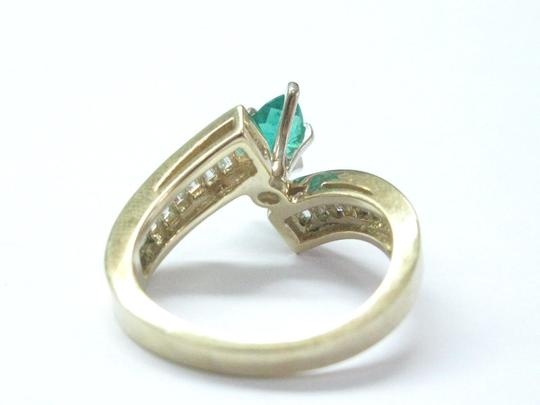 Other Fine Gem Green Emerald Diamond ByPass Yellow Gold Jewelry Ring 2.02Ct Image 2