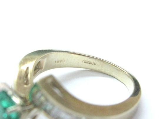 Other Fine Gem Green Emerald Diamond ByPass Yellow Gold Jewelry Ring 2.02Ct Image 3
