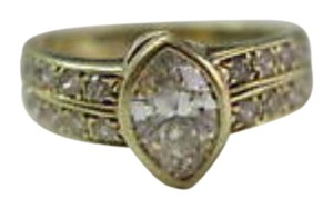 Other Fine Marquise Engagement Diamond Ring Yellow Gold 14KT 1.06CT