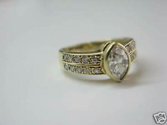 Other Fine Marquise Engagement Diamond Ring Yellow Gold 14KT 1.06CT Image 2