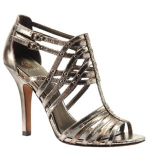 Isola silver snake Pumps