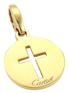 Cartier Cartier 18k Yellow Gold Open Round Cross Pendant