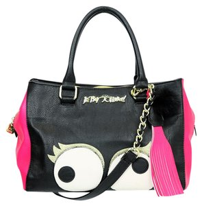 Betsey Johnson Faux Leather Satchel in Multi