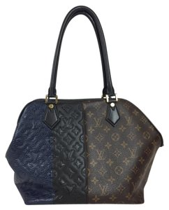 Louis Vuitton Limited Edition Tote in Brown, Black, Blue