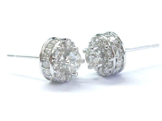 Other Fine Round Cut Diamond Stud Earrings White Gold 1.91Ct Image 1